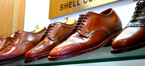 A few of the choices available in whiskey shell cordovan.