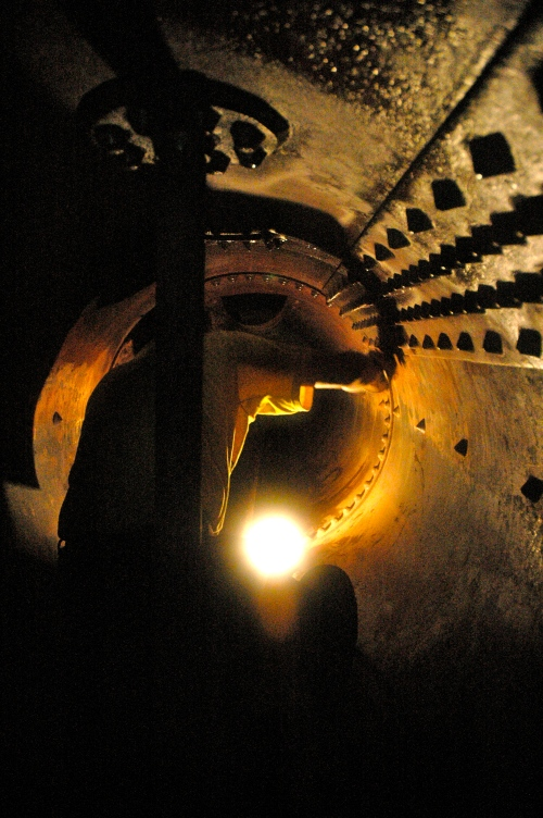 Inside boiler number 2 - claustrophobics stay away.