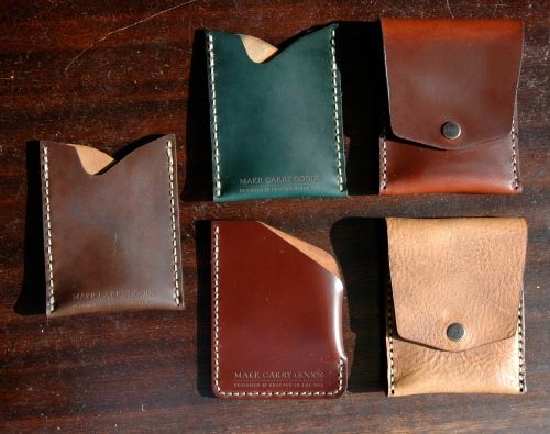 Some other styles - counter-clockwise from the left: Dark Brown Shell, Color #4 Shell, Natural Essex, Tan Chromexcel, Green Shell
